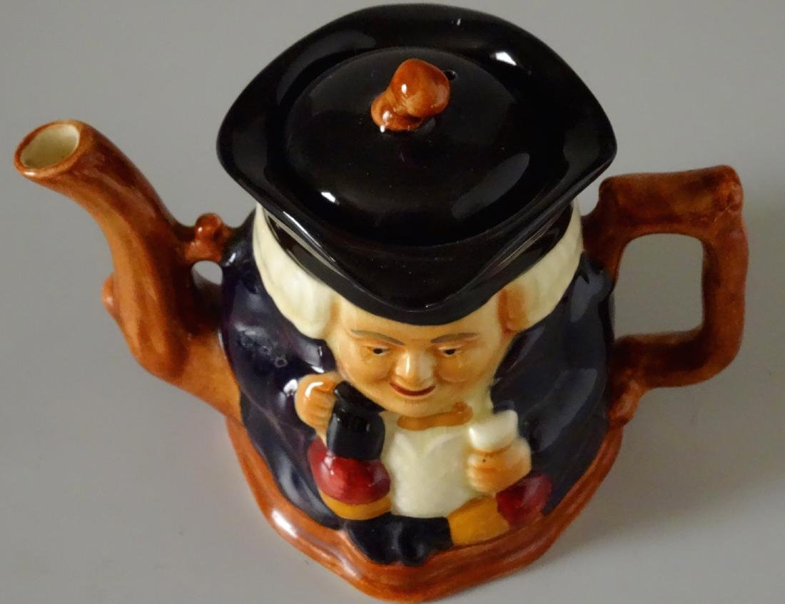 Staffordshire Shorter and Son Figural Toby Teapot - 3