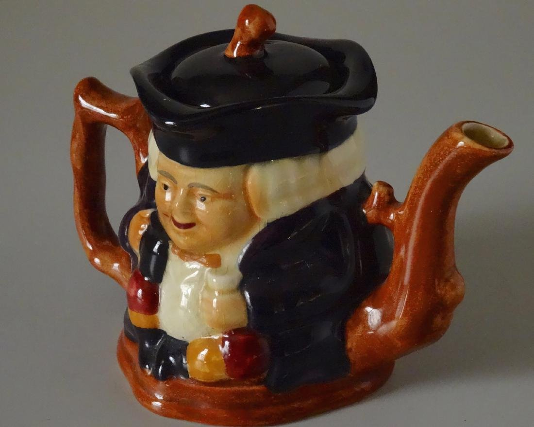 Staffordshire Shorter and Son Figural Toby Teapot - 7