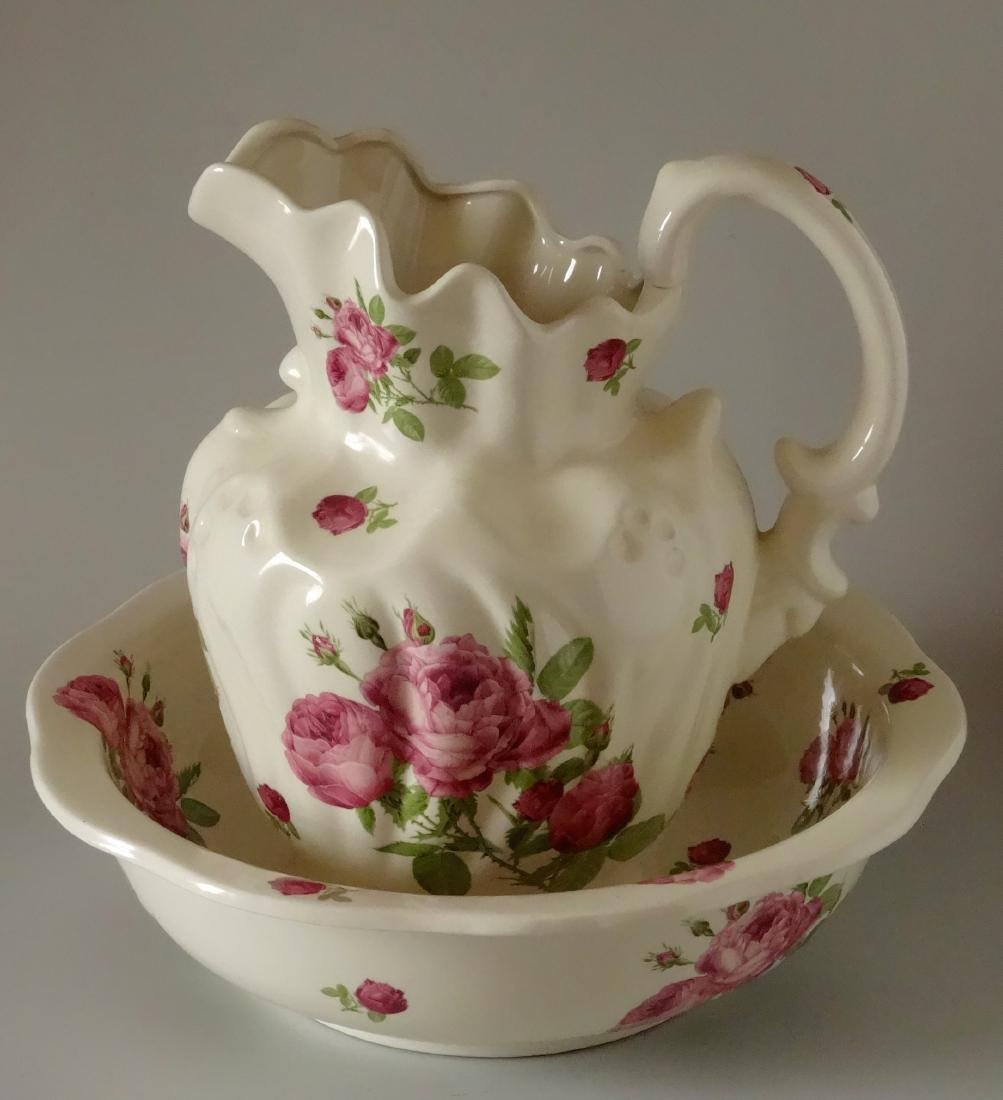 Victorian Trading Co Wash Basin Bowl & Water Pitcher