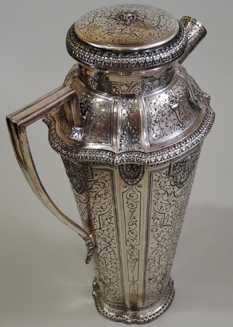 Antique Silver Repousse Cocktail Shaker Webster & Son - 2