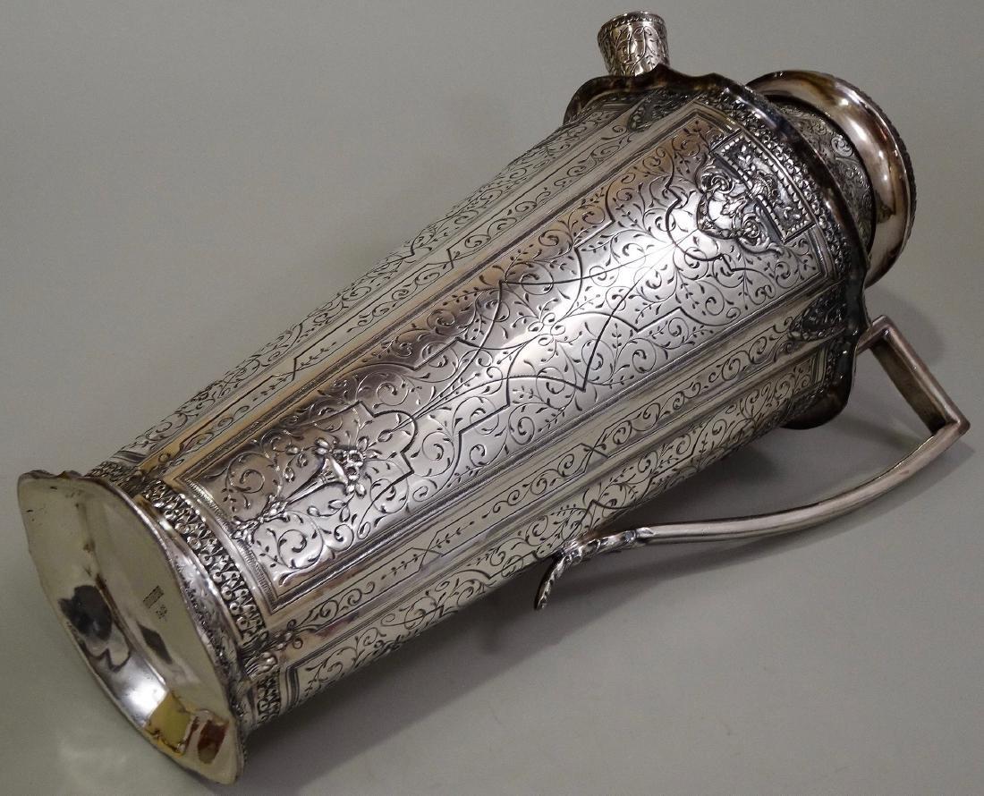 Antique Silver Repousse Cocktail Shaker Webster & Son - 9