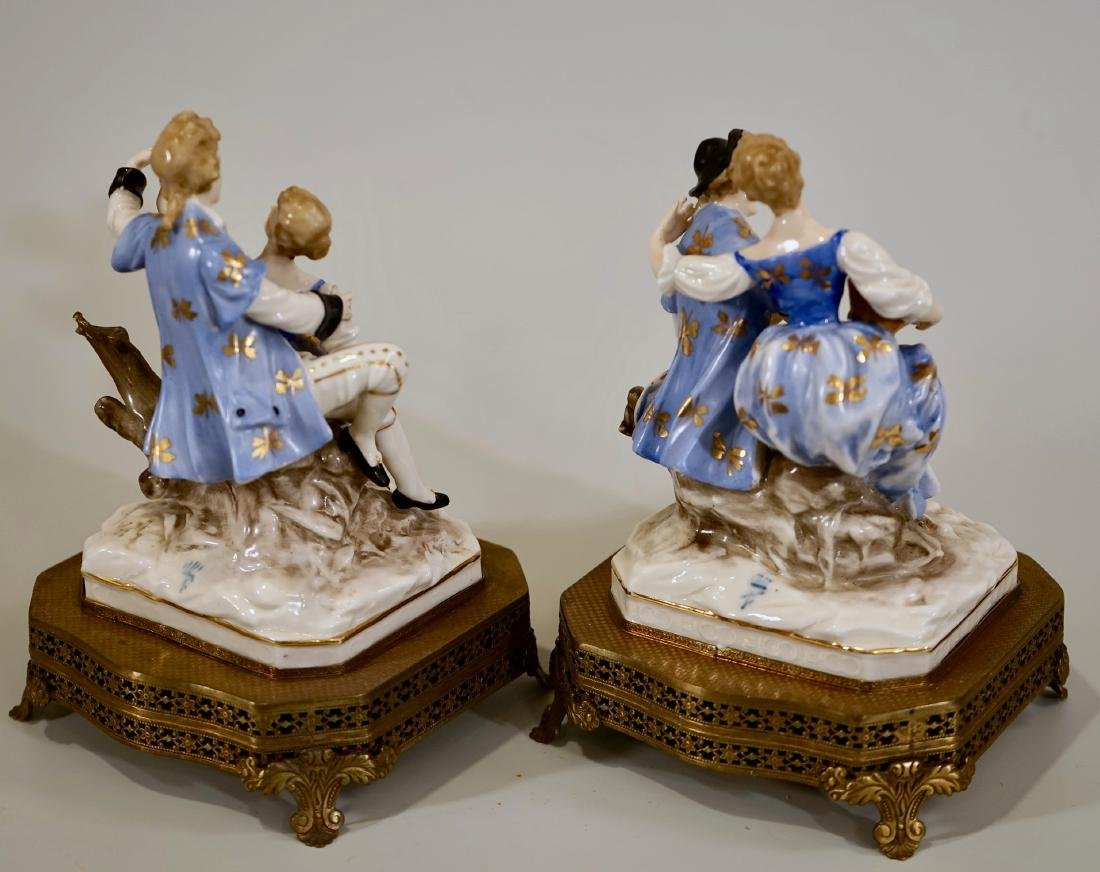 Vintage German Courting Couple Porcelain Figurines on - 4