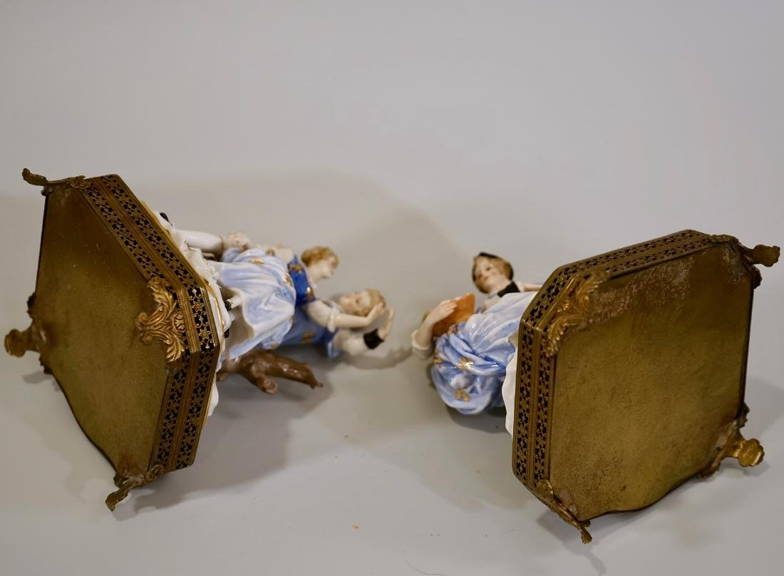 Vintage German Courting Couple Porcelain Figurines on - 9