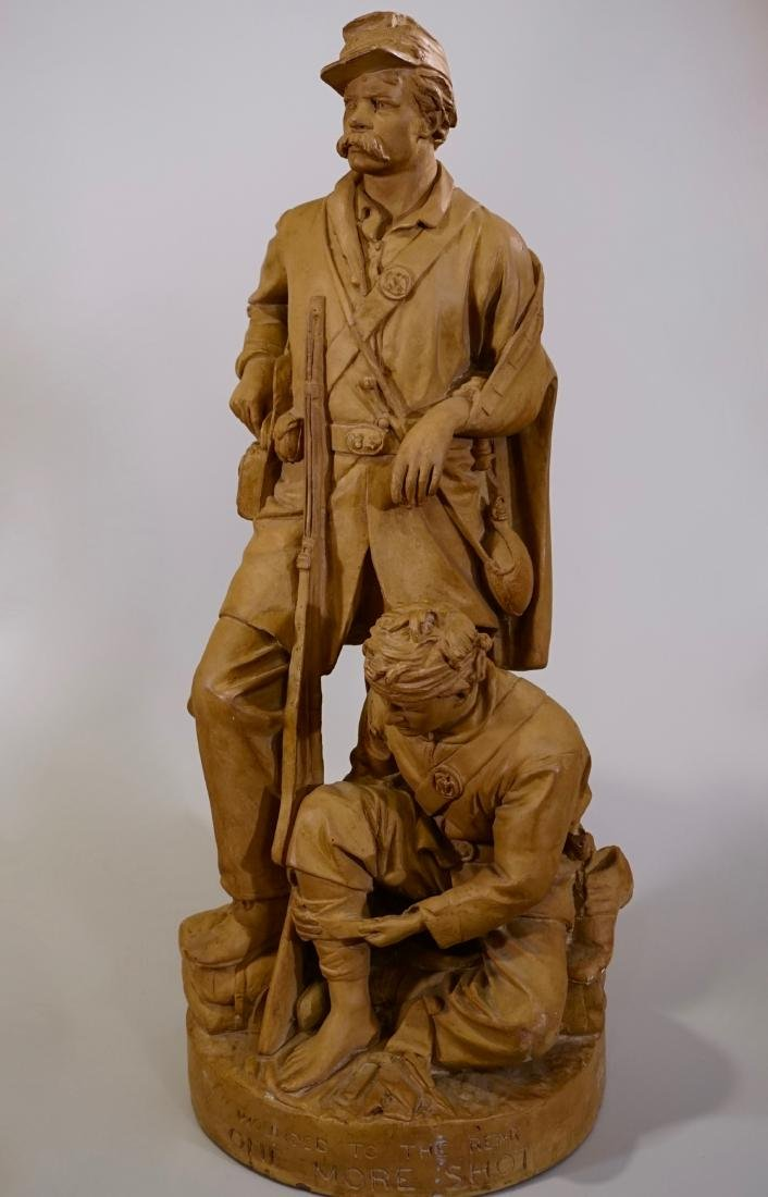 John Rogers Original 19c Plaster Sculpture Wounded to