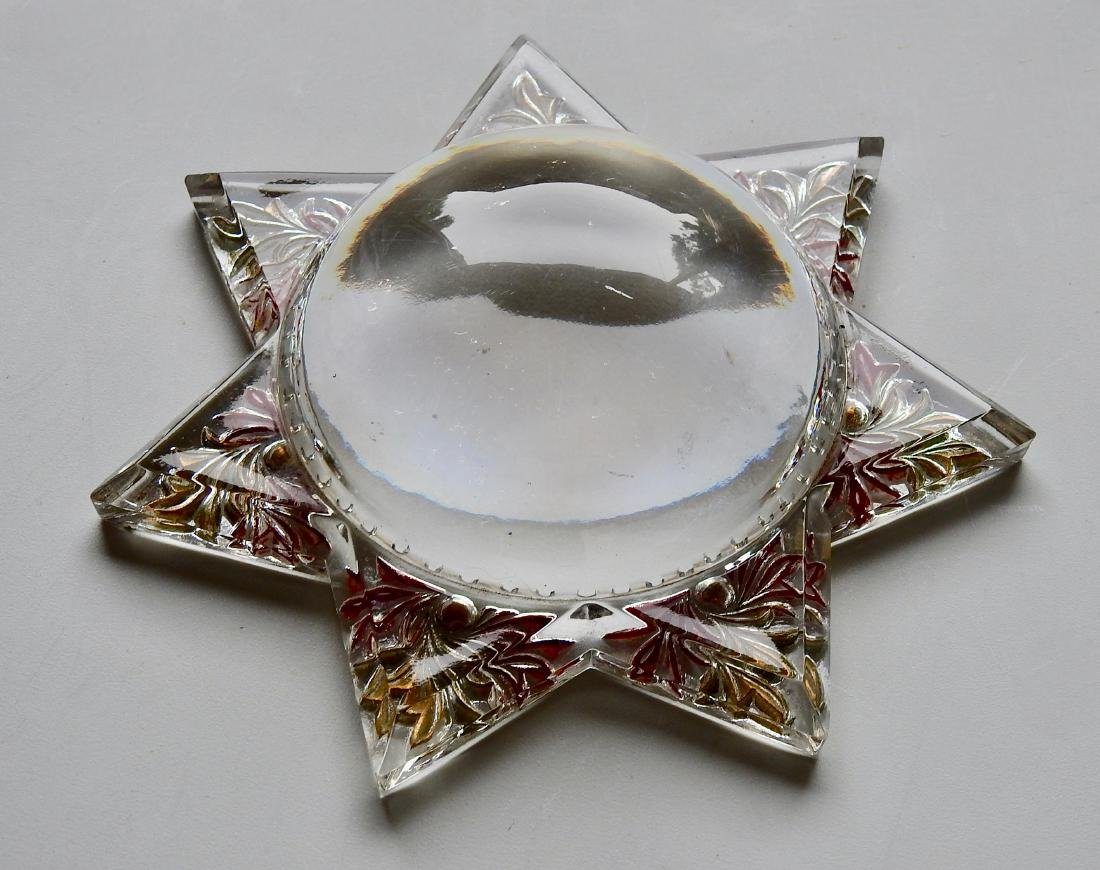 Antique Victorian Star Desk Top Magnifier Paperweight