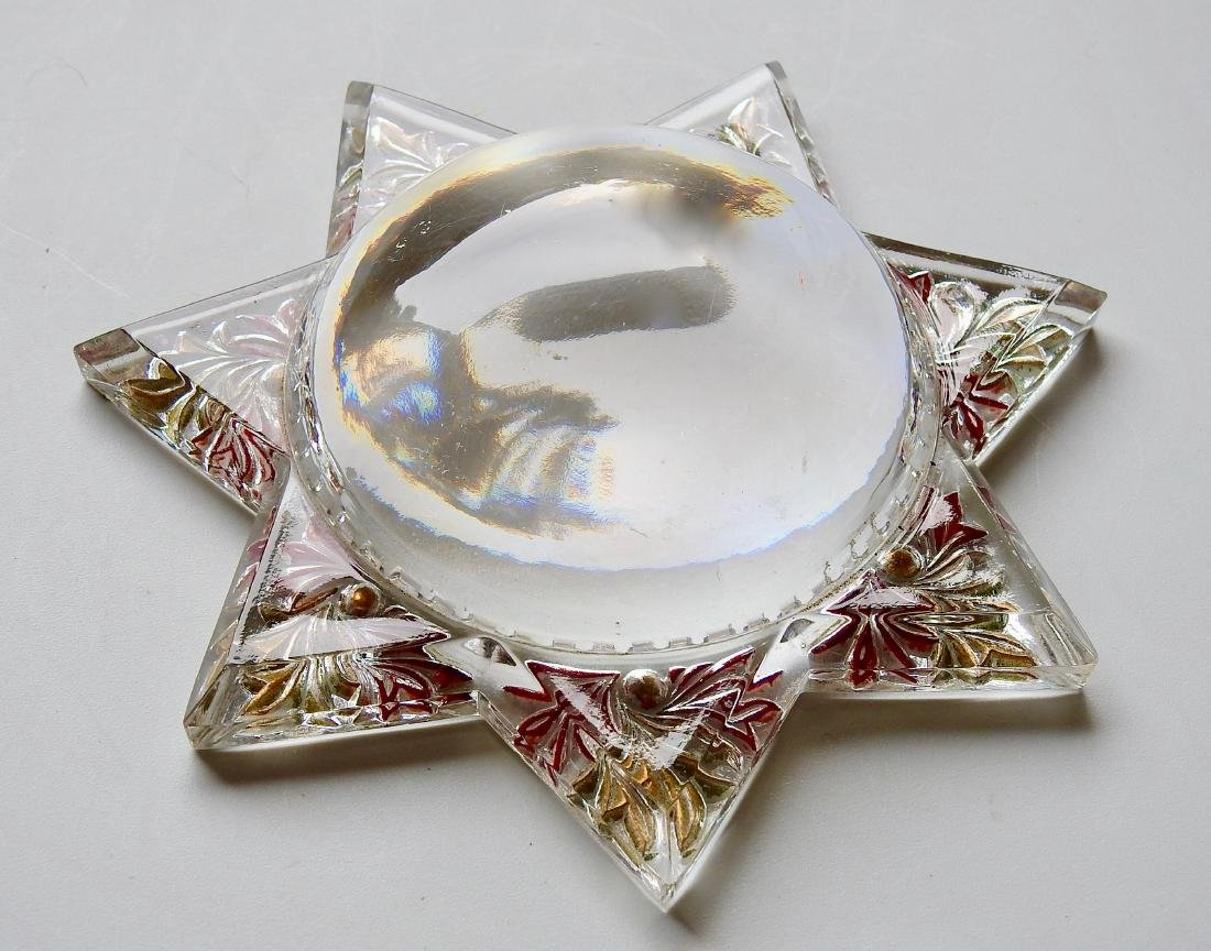 Antique Victorian Star Desk Top Magnifier Paperweight - 3