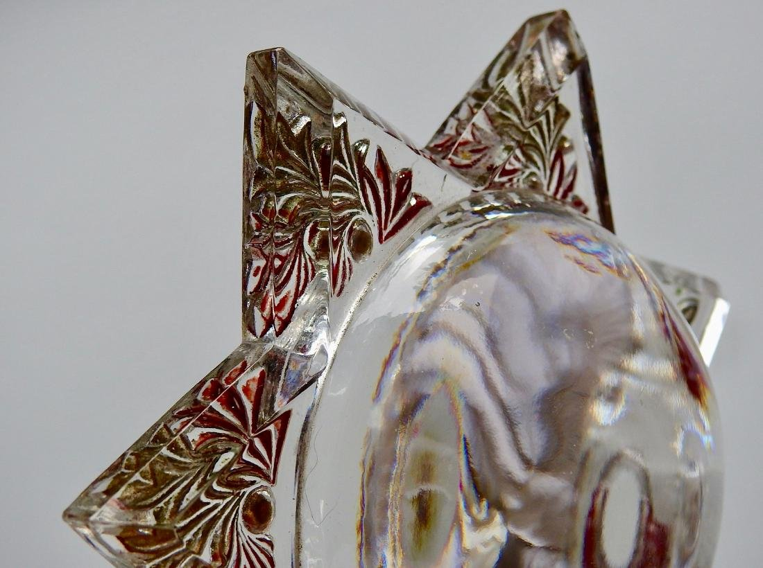 Antique Victorian Star Desk Top Magnifier Paperweight - 6