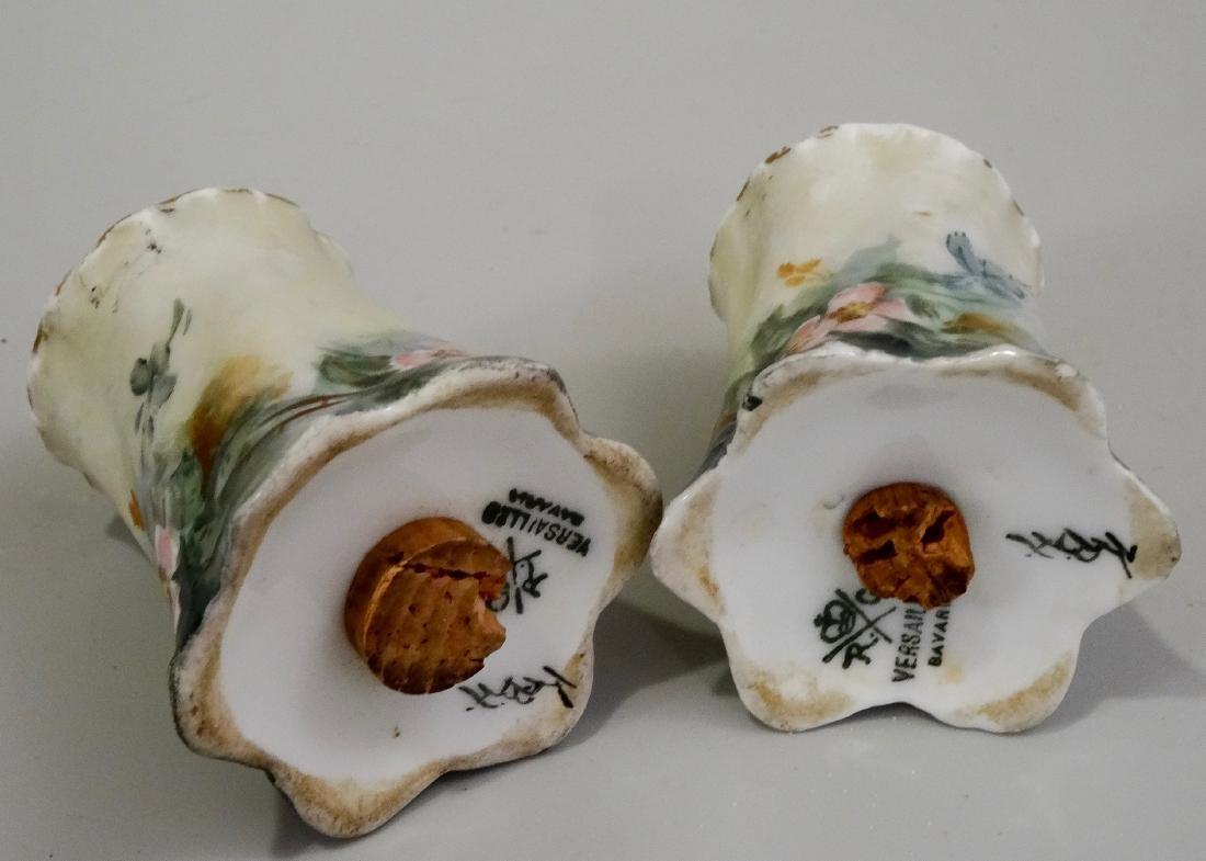 Hand Painted Art Nouveau Porcelain Salt Pepper Shakers - 4