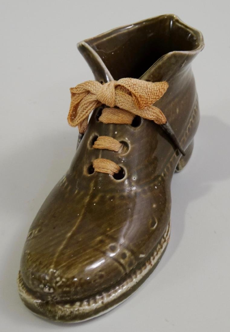 German Ceramic Shoe Matchstick Holder Original Shoelace - 6