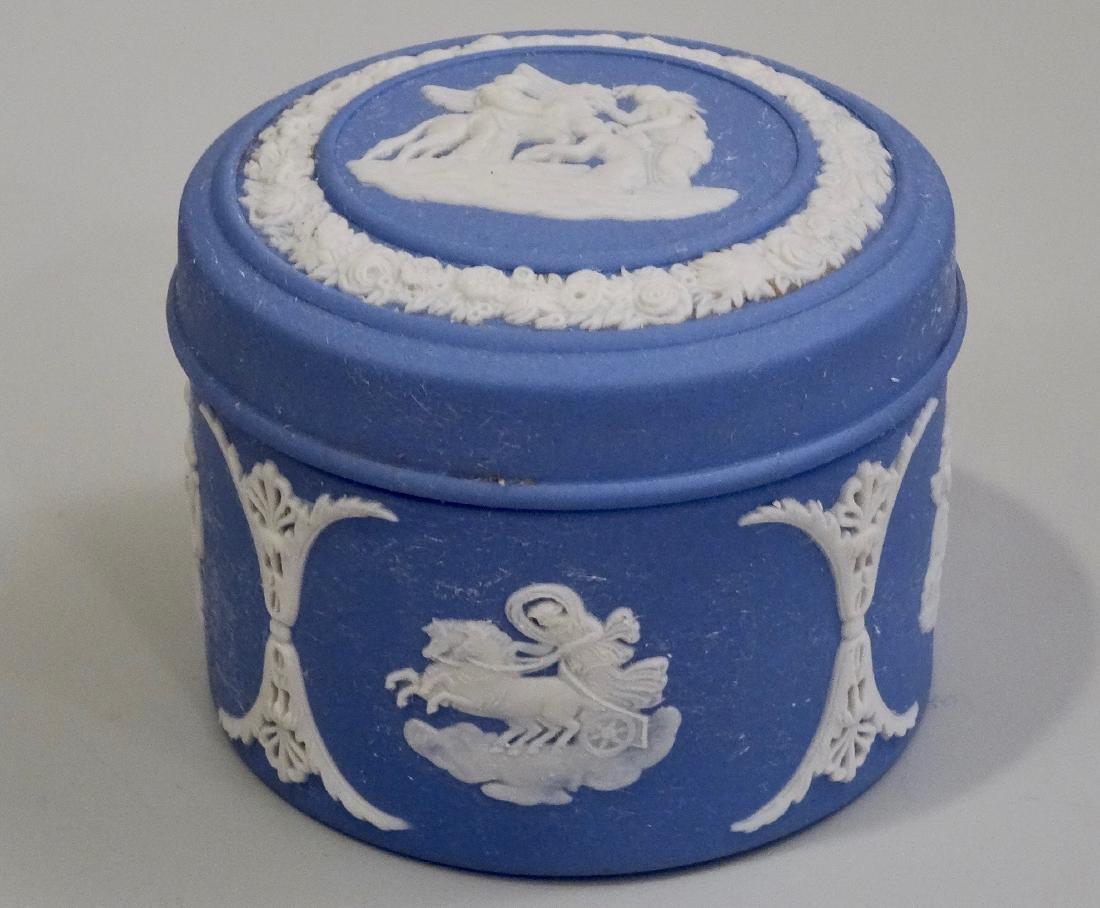 Wedgwood Blue Jasperware Circular Trinket Box