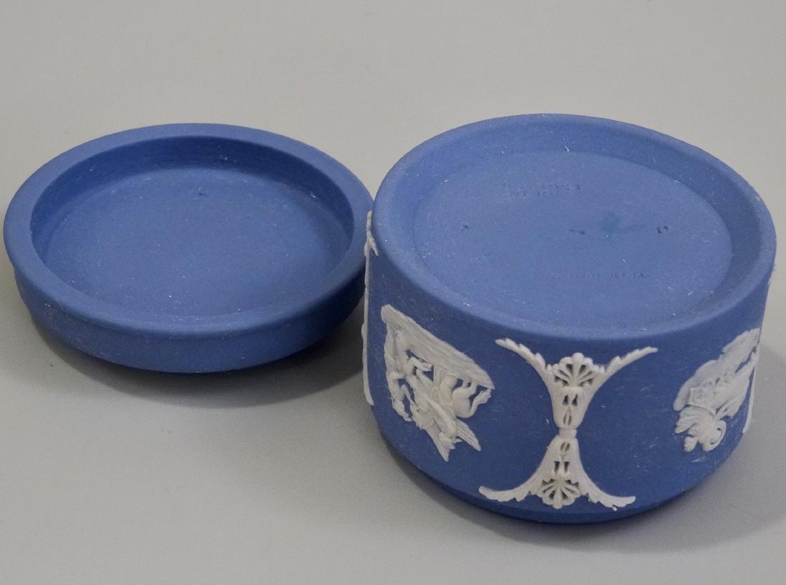 Wedgwood Blue Jasperware Circular Trinket Box - 6