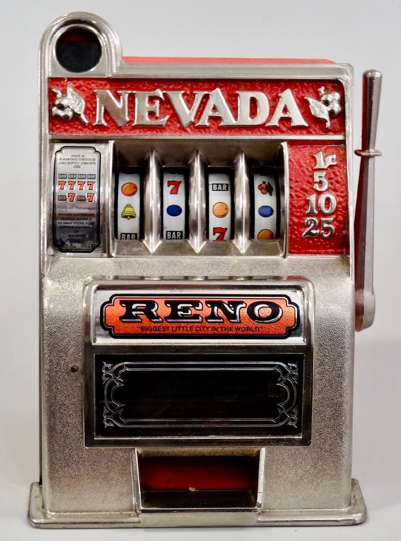 Vintage Slot Machine Reno Nevada One Arm Bandit Coin - 2