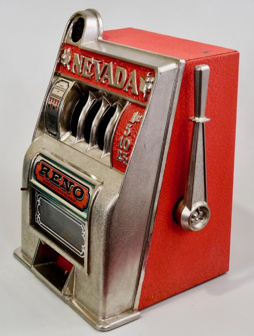 Vintage Slot Machine Reno Nevada One Arm Bandit Coin - 6