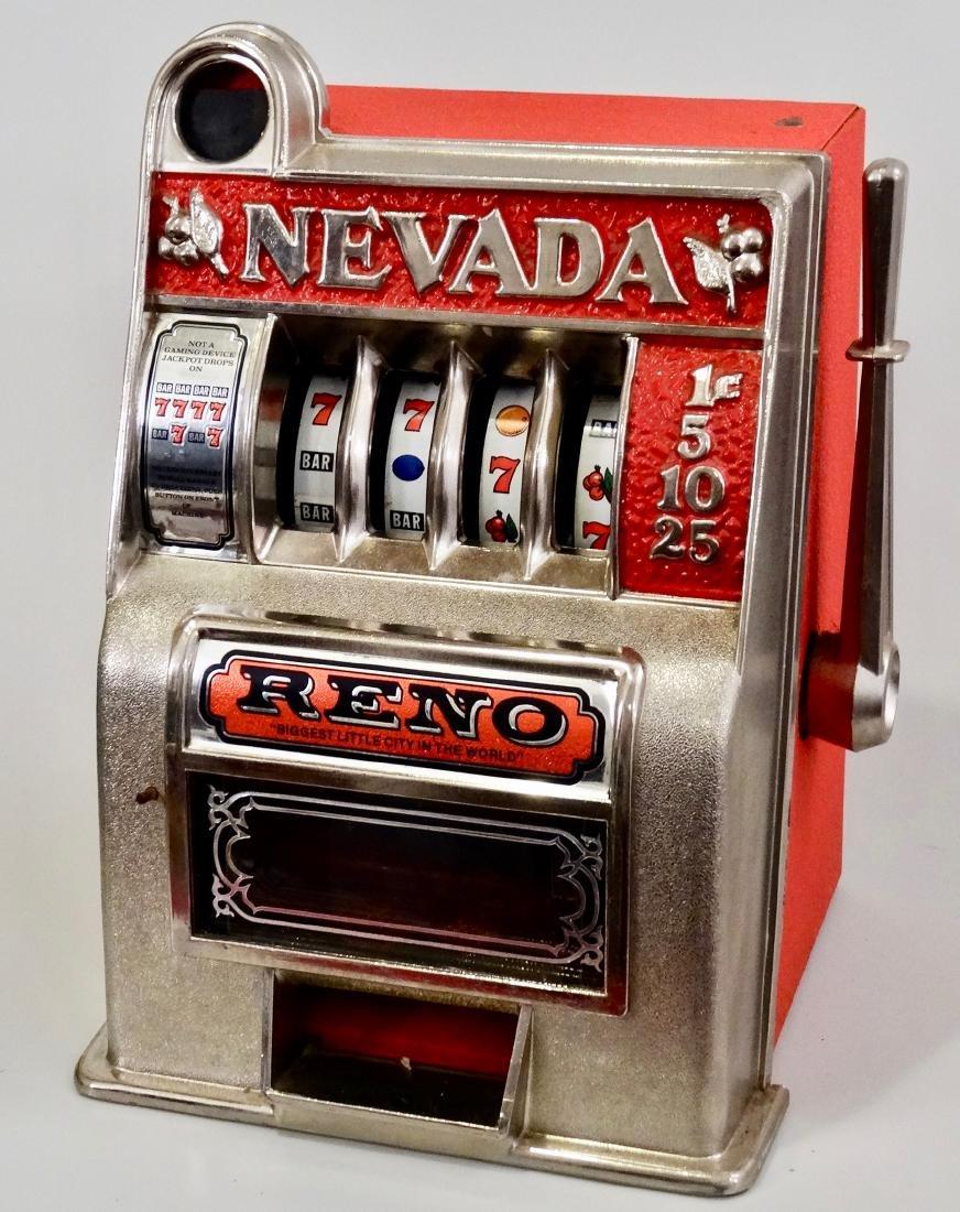 Vintage Slot Machine Reno Nevada One Arm Bandit Coin - 7
