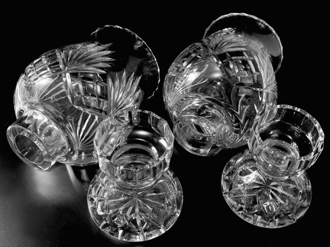 Heavy Crystal Hurricane Glass Candleholder Lusters with - 3