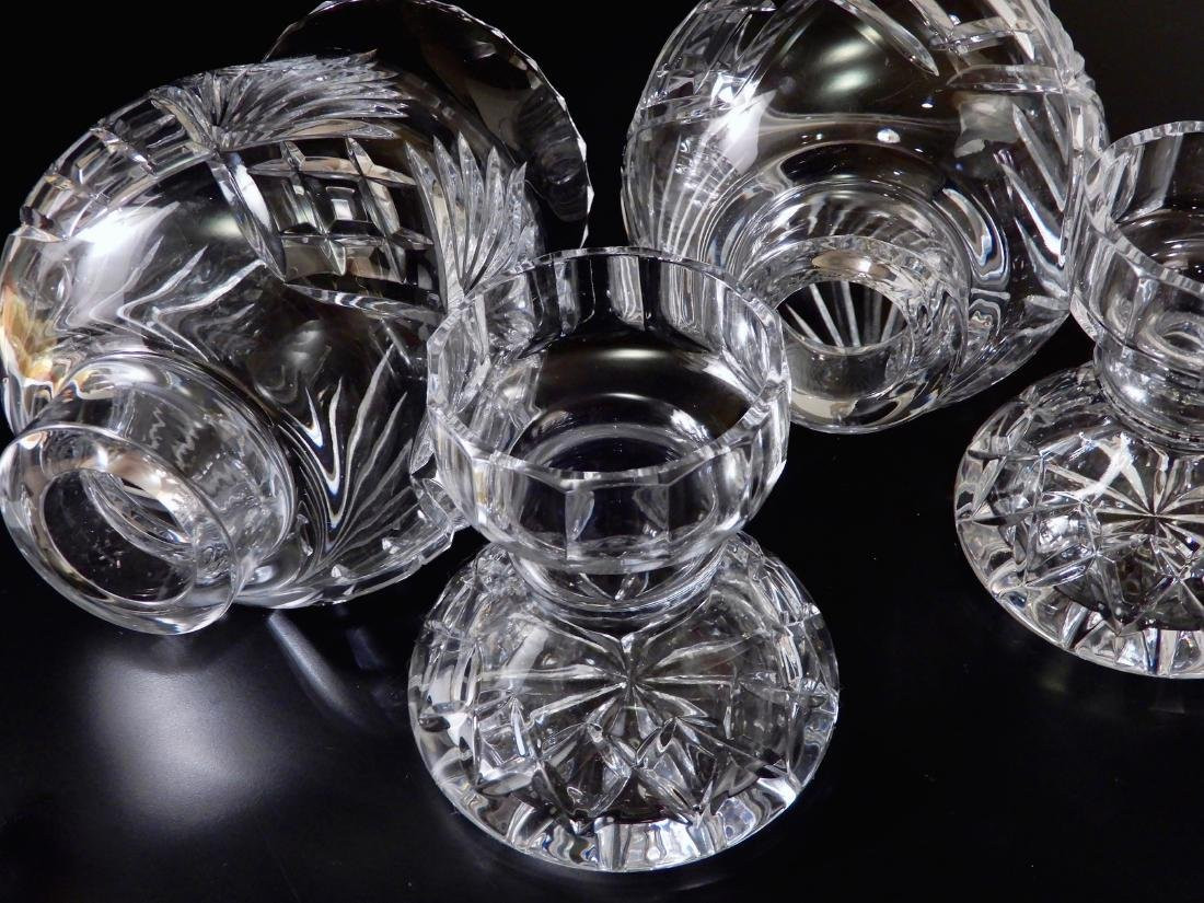 Heavy Crystal Hurricane Glass Candleholder Lusters with - 5