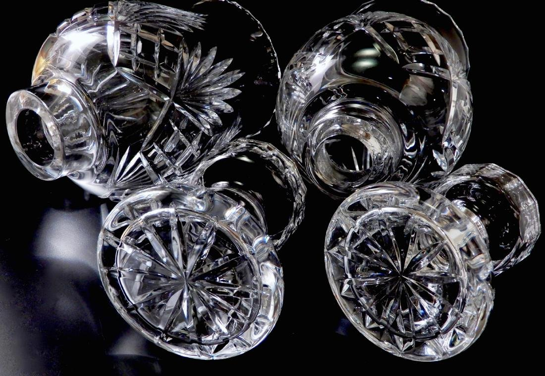 Heavy Crystal Hurricane Glass Candleholder Lusters with - 6