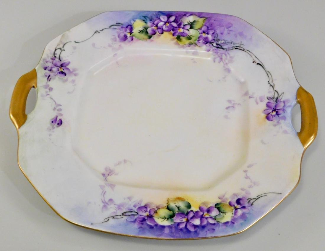 Bernardaud Limoges France B and Co Violet Painted Tray