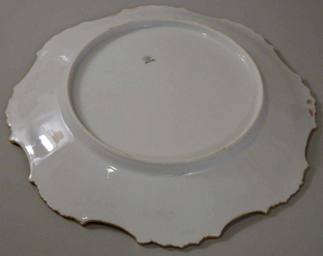French Limoges Porcelain Blackberry Plate c1910 Hand - 4