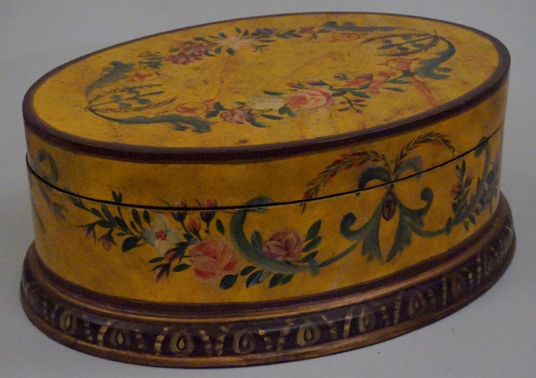 Hand Painted Oval Box - 2