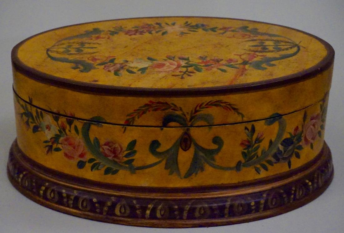 Hand Painted Oval Box - 4