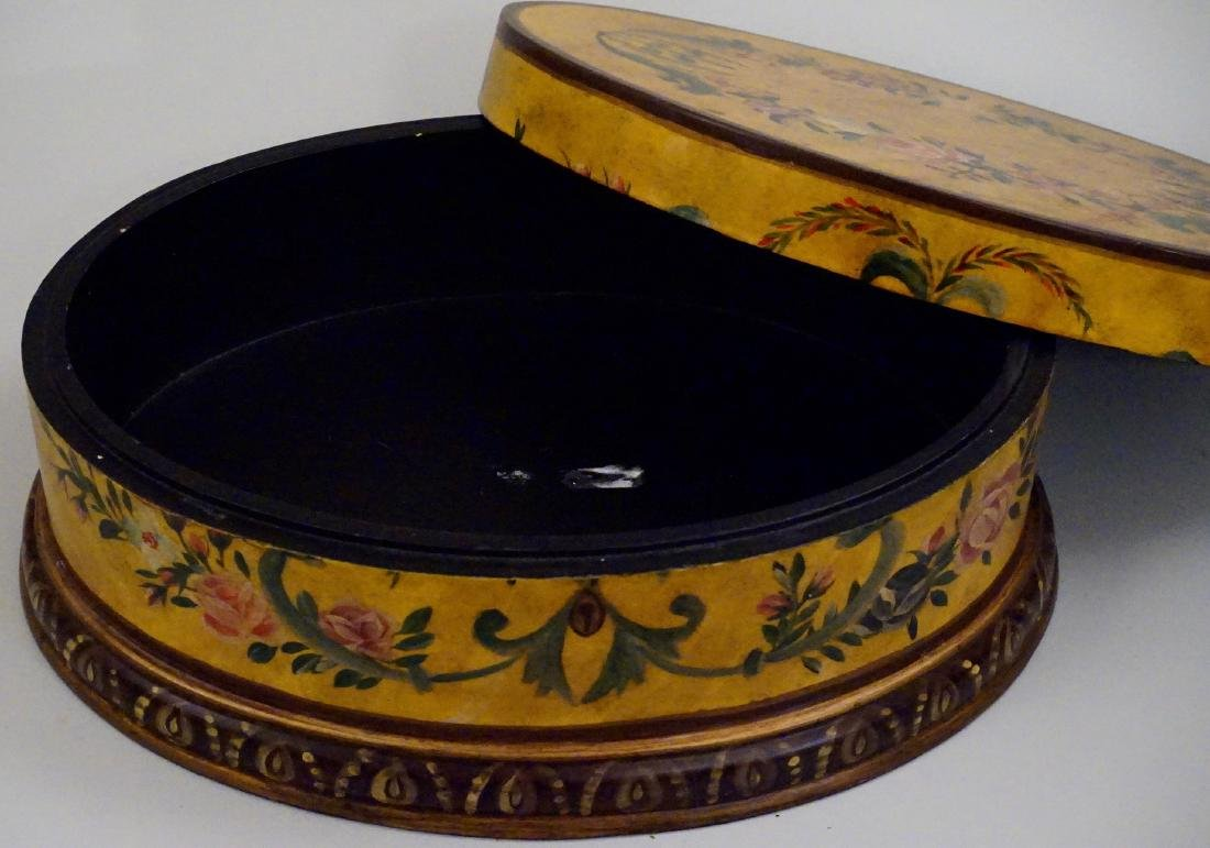 Hand Painted Oval Box - 5