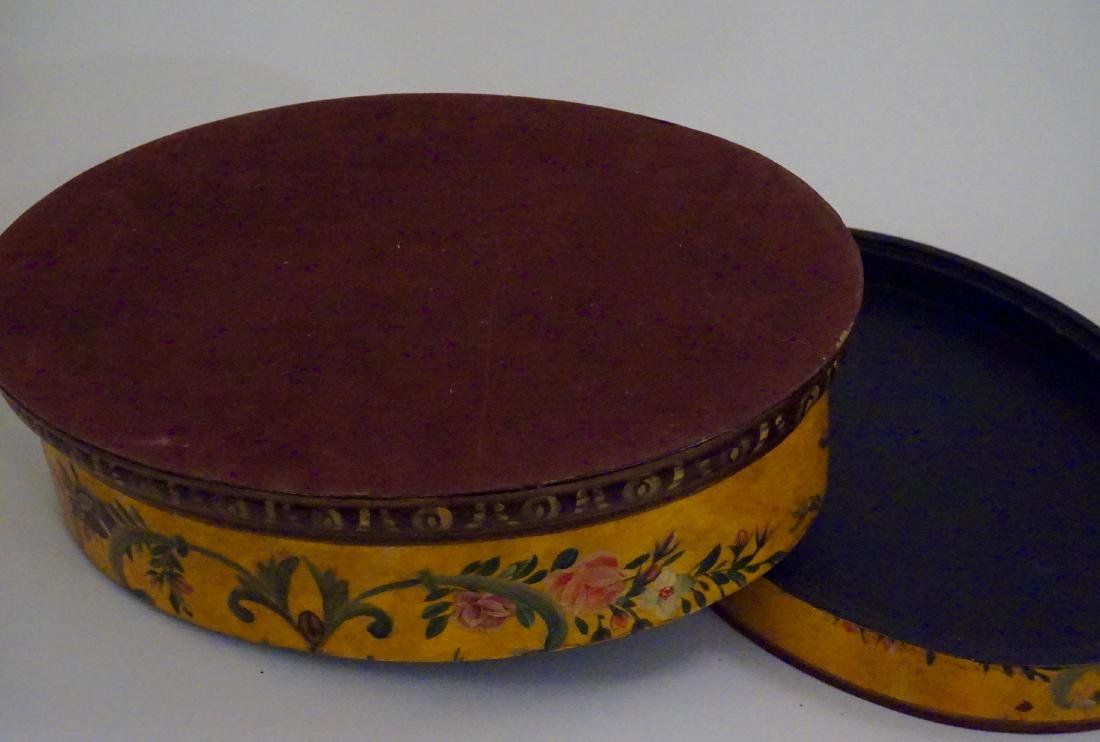Hand Painted Oval Box - 6