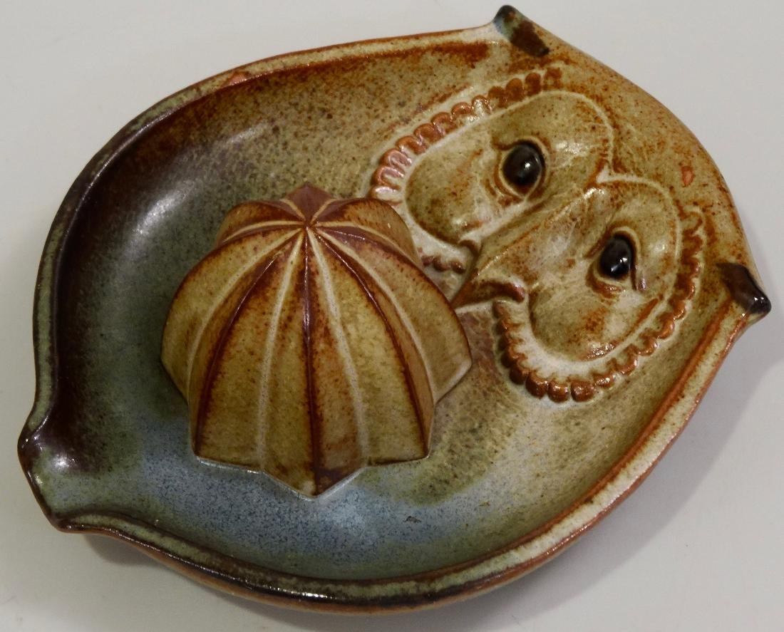 Owl UCTCI Pottery Lemon Juicer Reamer Squeezer Mid