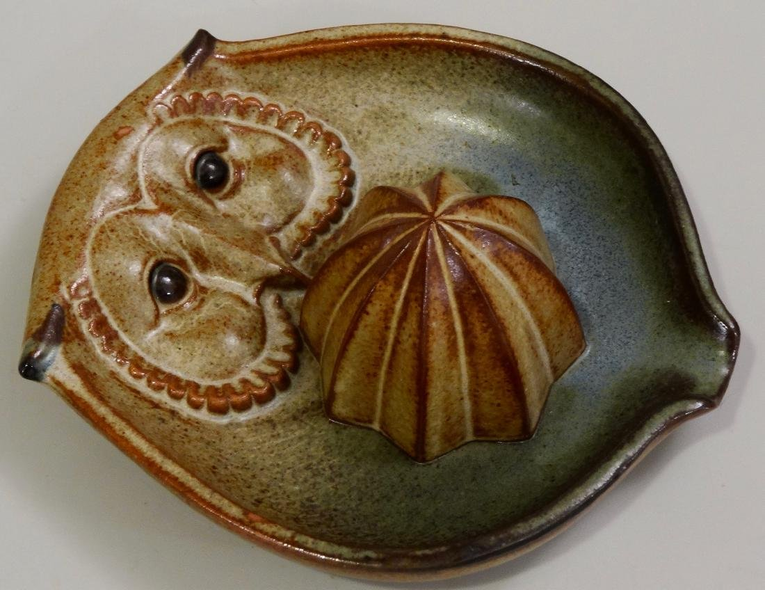 Owl UCTCI Pottery Lemon Juicer Reamer Squeezer Mid - 2