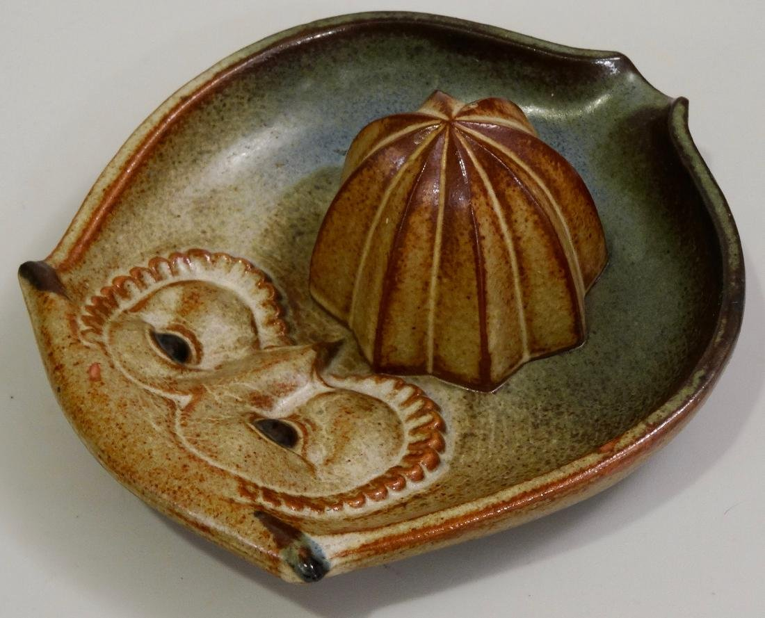 Owl UCTCI Pottery Lemon Juicer Reamer Squeezer Mid - 3