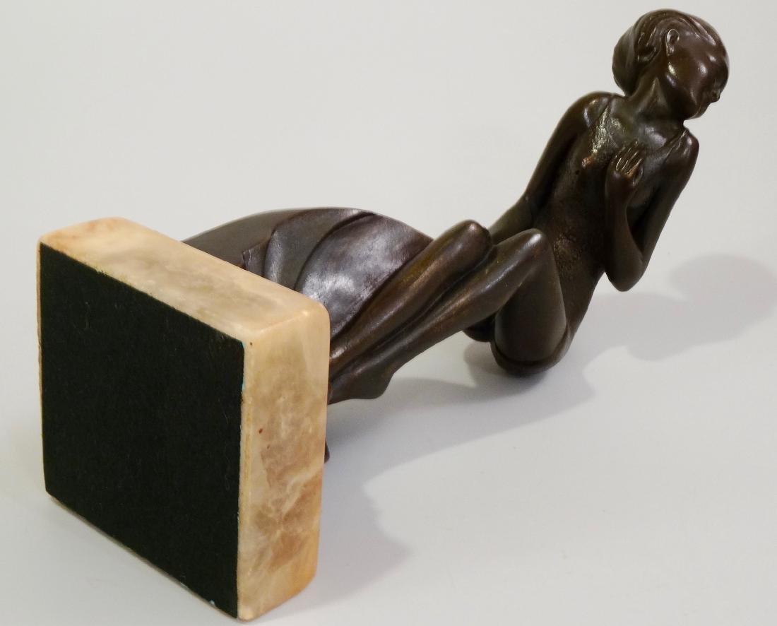 Art Deco Swimming Suit Maiden Bathing Beauty Semi Nude - 10