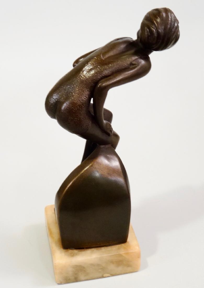 Art Deco Swimming Suit Maiden Bathing Beauty Semi Nude - 8