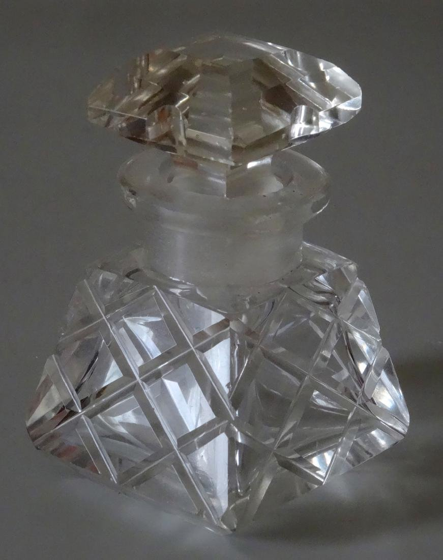 Vintage Cut Glass Perfume Bottle
