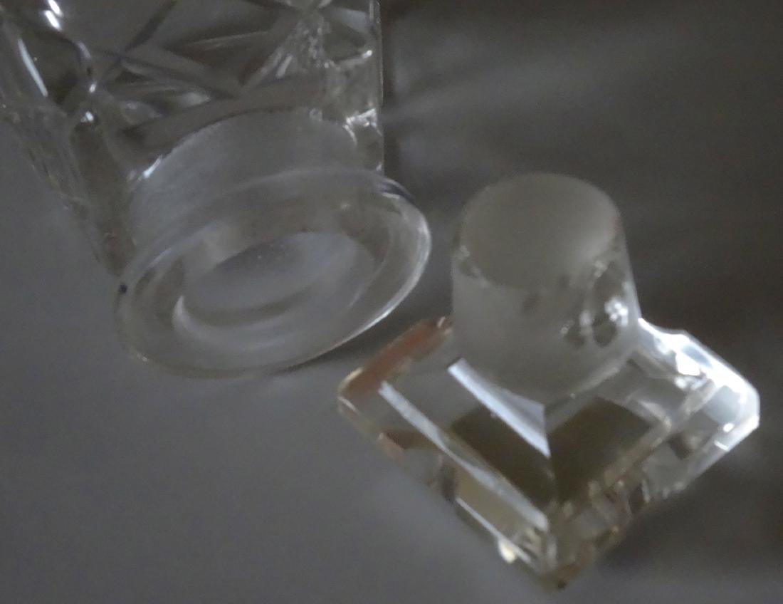 Vintage Cut Glass Perfume Bottle - 2