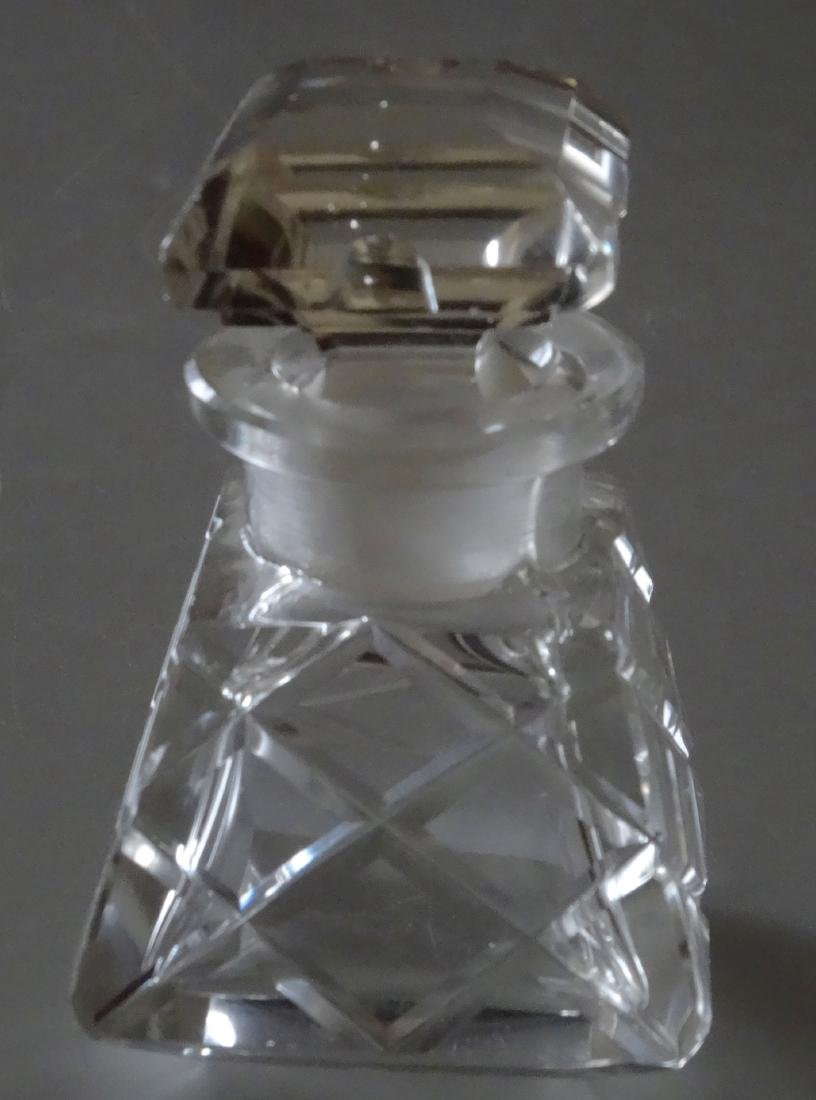 Vintage Cut Glass Perfume Bottle - 3