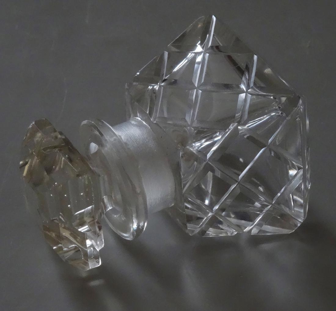 Vintage Cut Glass Perfume Bottle - 4