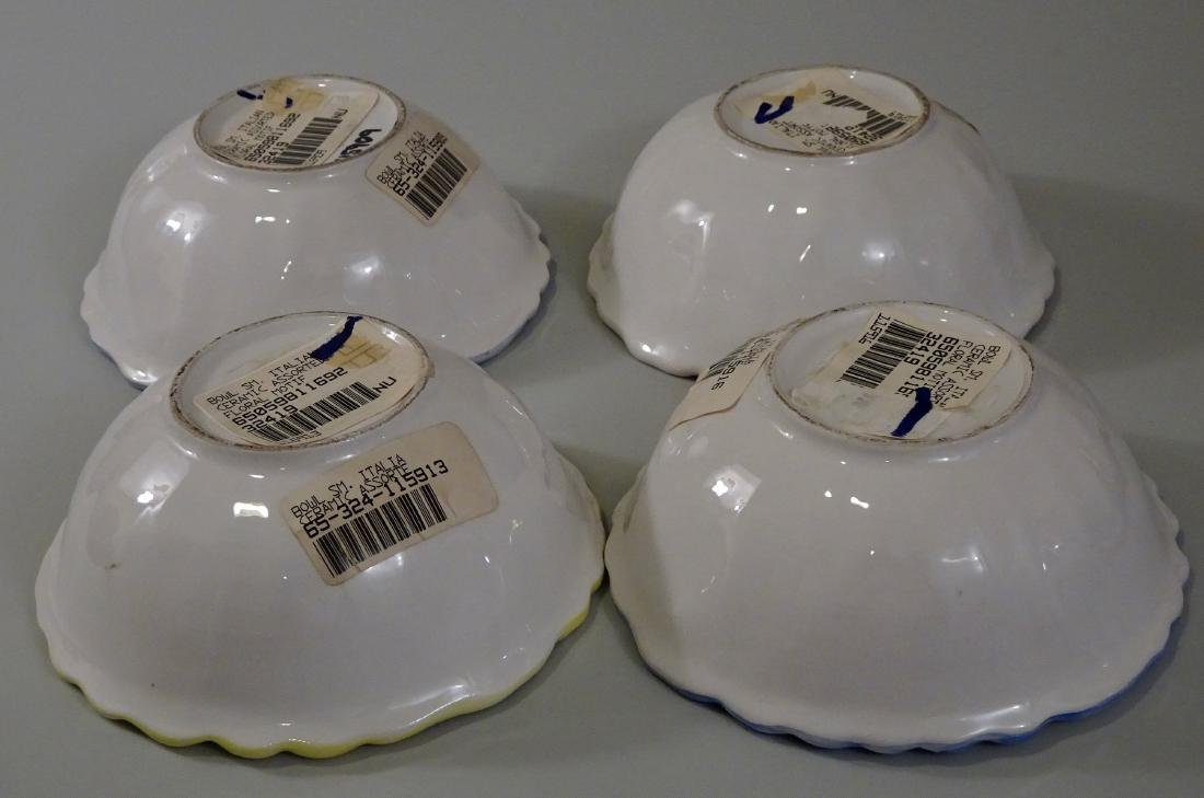Italian Hand Painted Flower Cereal Bowls Set of 4 - 3