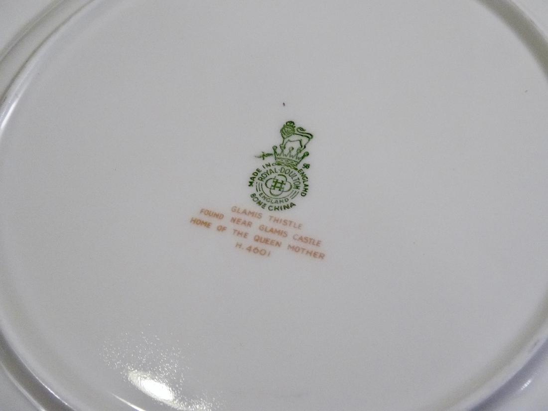 P Curnock Signed Glamis Thistle Royal Doulton Bone - 7