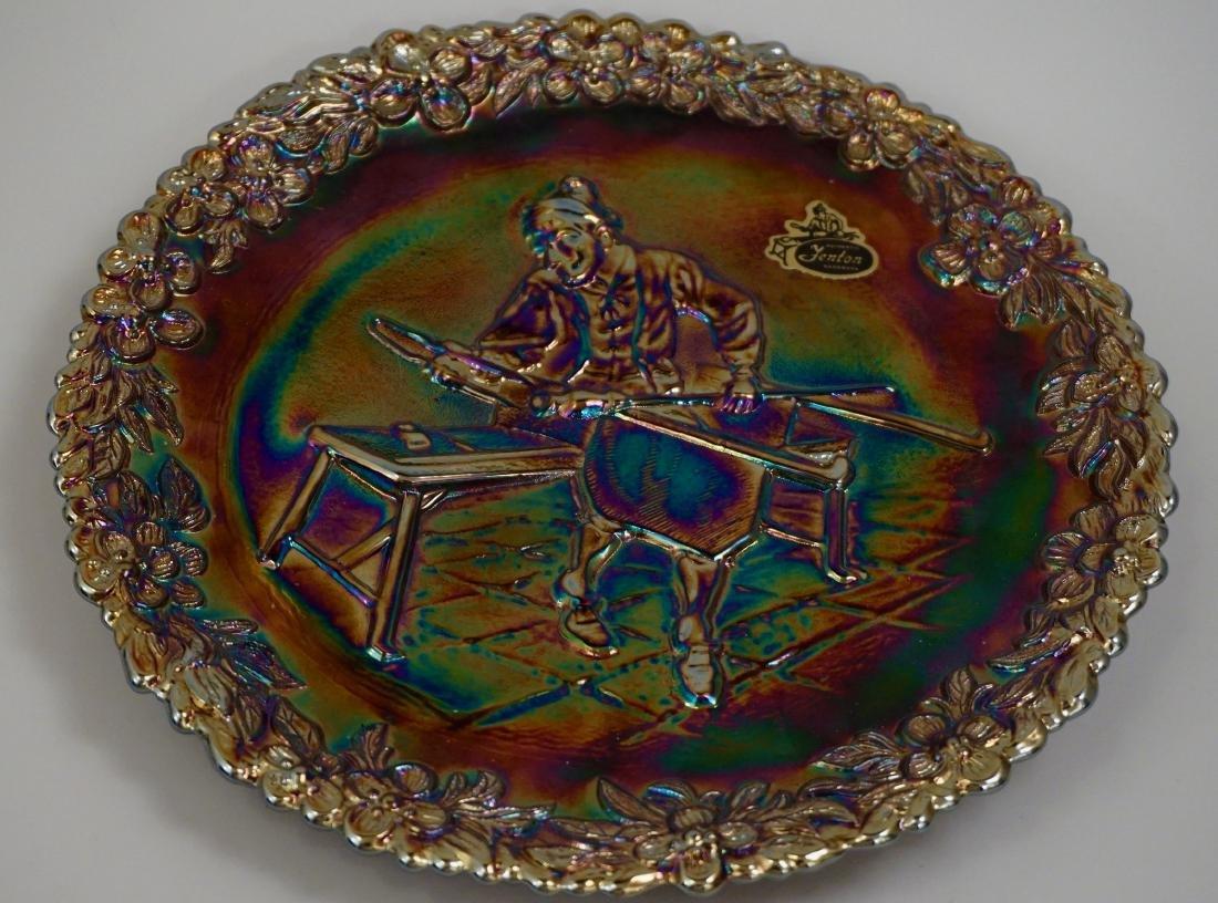 Fenton Iridescent Carnival Glass Collector Plate Glass - 2