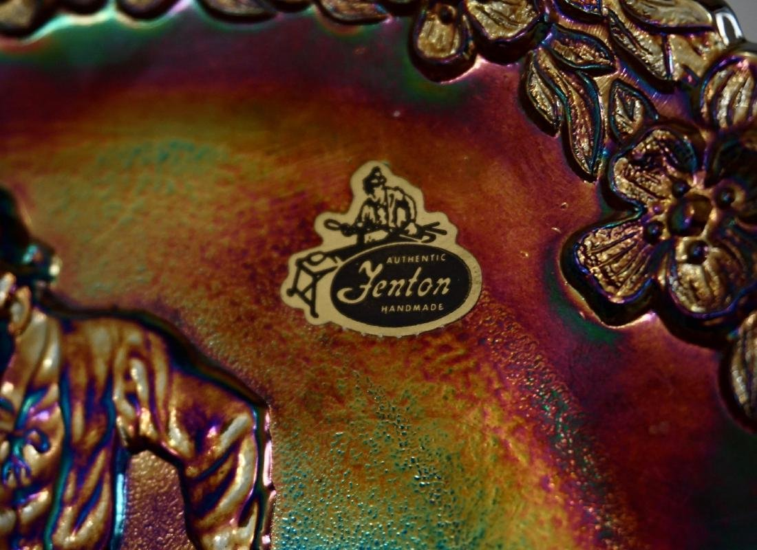 Fenton Iridescent Carnival Glass Collector Plate Glass - 3