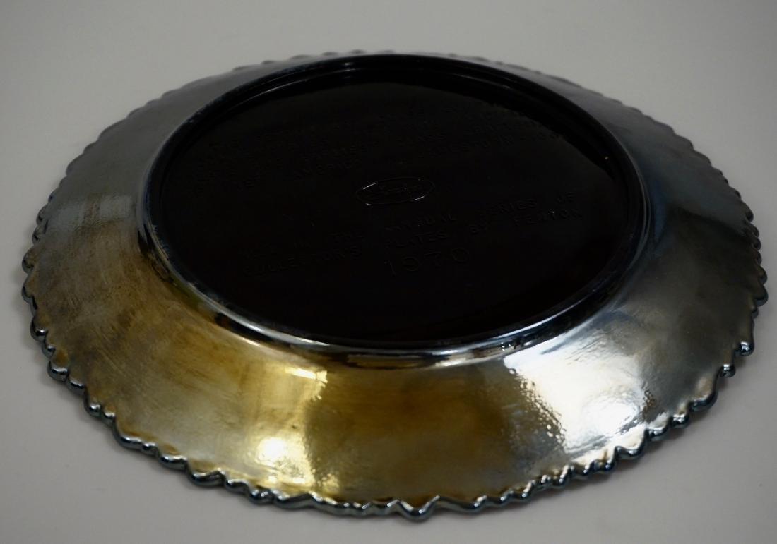 Fenton Iridescent Carnival Glass Collector Plate Glass - 5