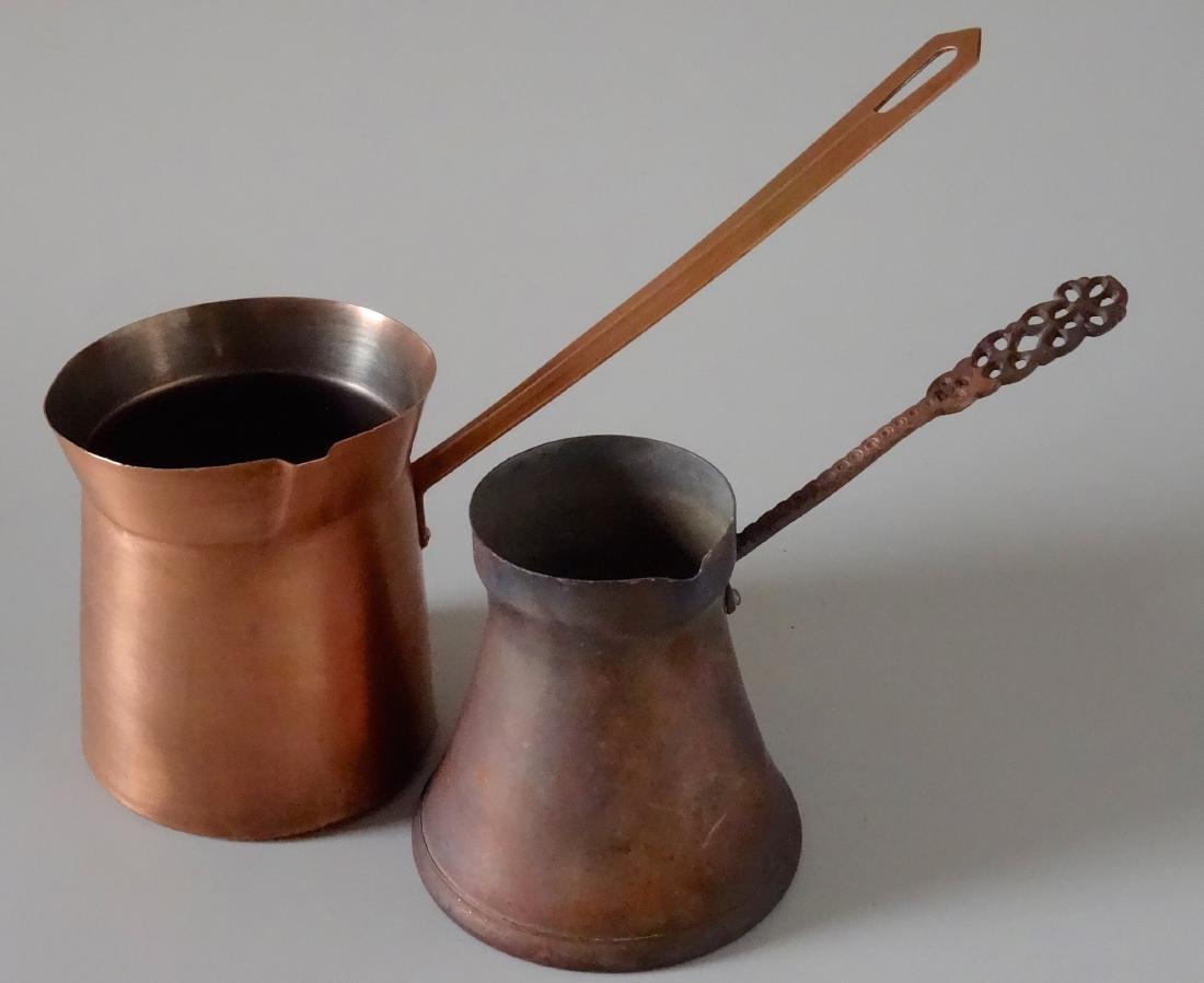 Copper Toorka Turkish Ibrik Coffee Pot Lot of 2