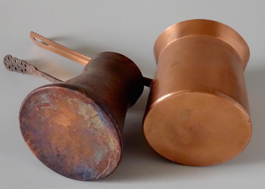Copper Toorka Turkish Ibrik Coffee Pot Lot of 2 - 3