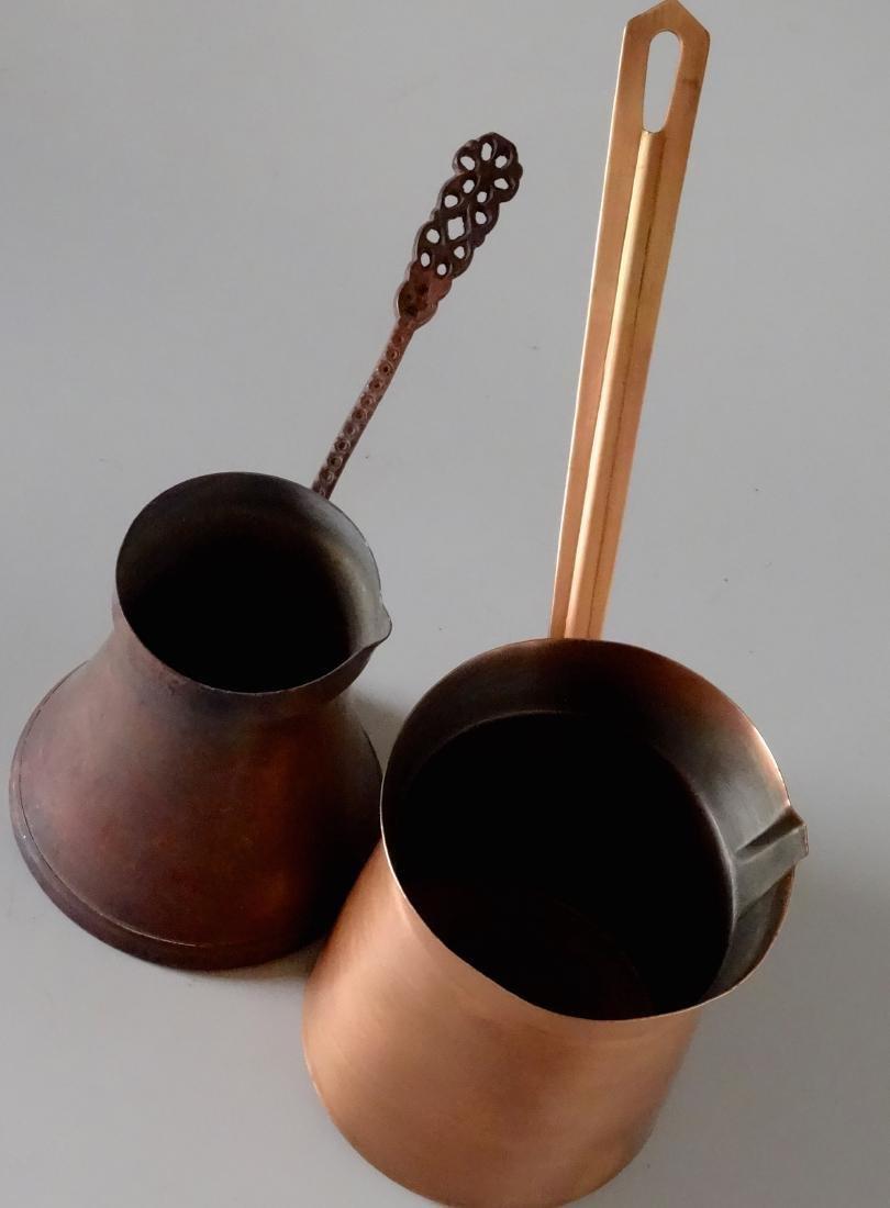 Copper Toorka Turkish Ibrik Coffee Pot Lot of 2 - 4