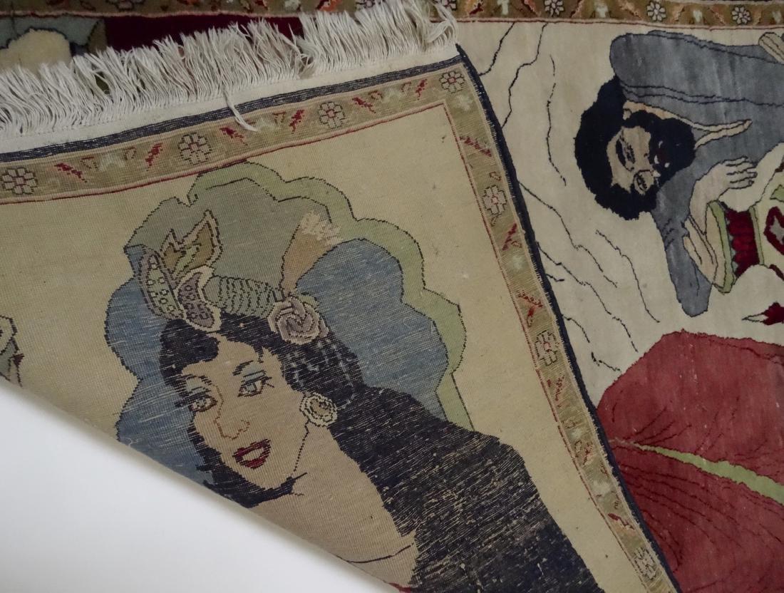 Pictorial Arabic Carpet - 6