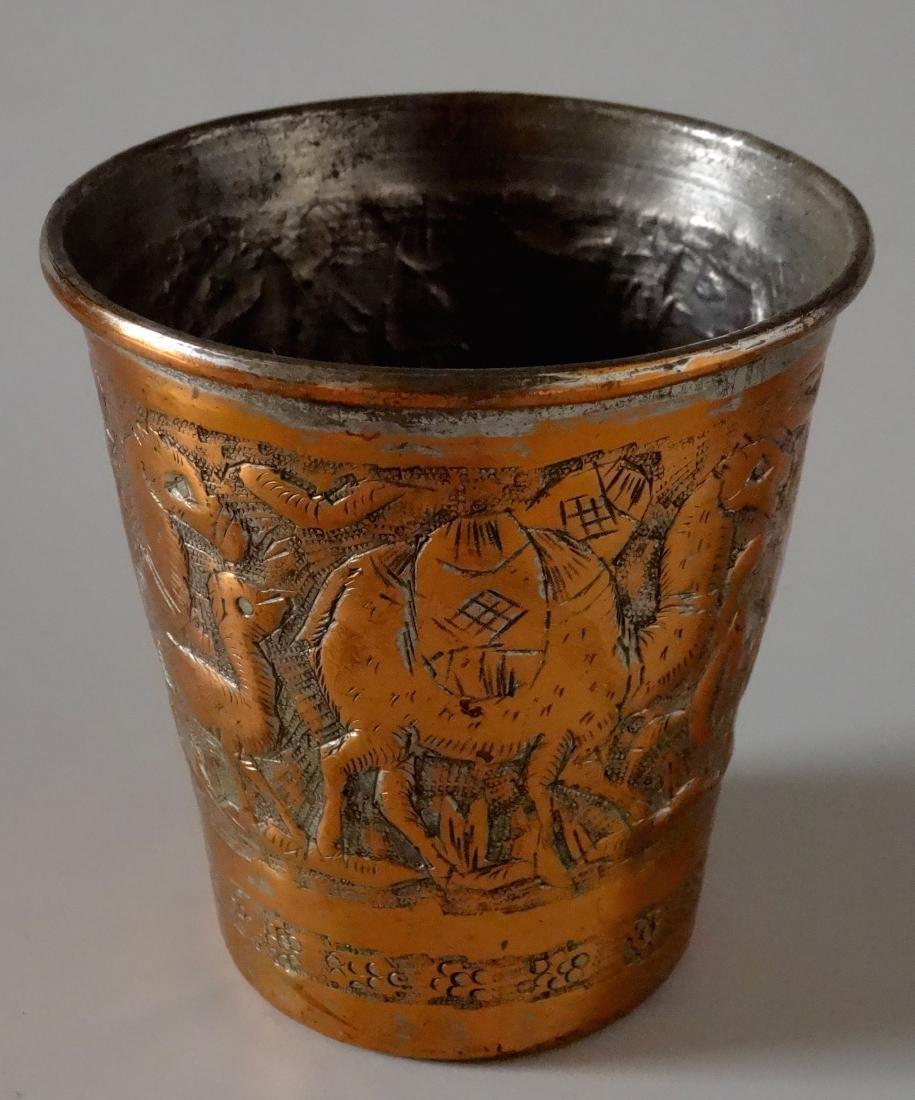 Mediterranean Cup Hand Chiseled Camel Caravan Beaker - 2