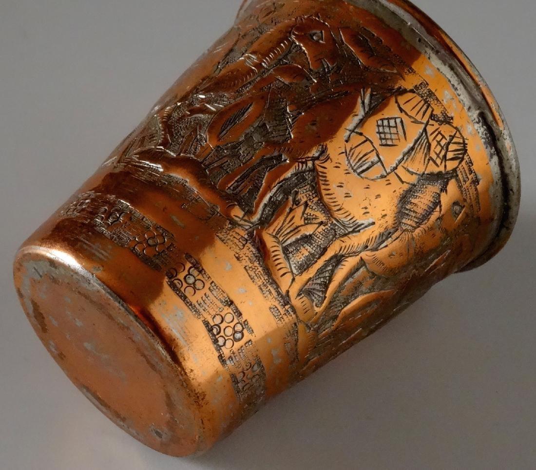 Mediterranean Cup Hand Chiseled Camel Caravan Beaker - 4