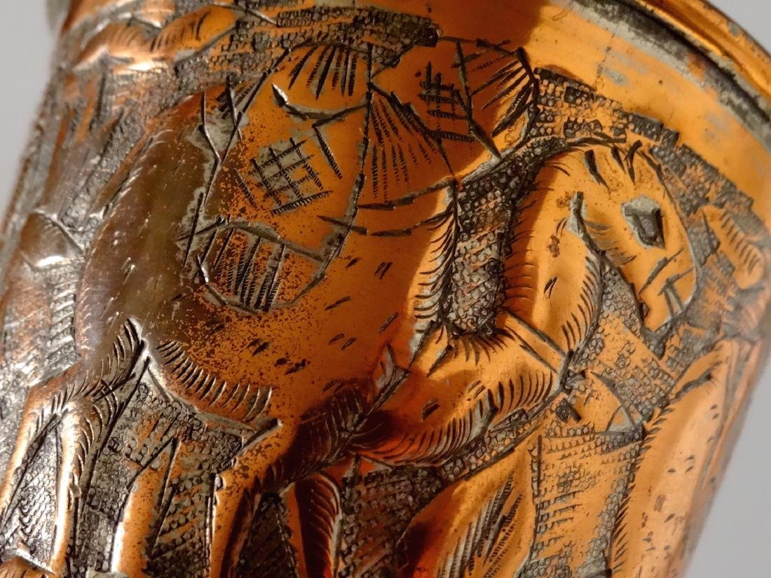 Mediterranean Cup Hand Chiseled Camel Caravan Beaker - 6