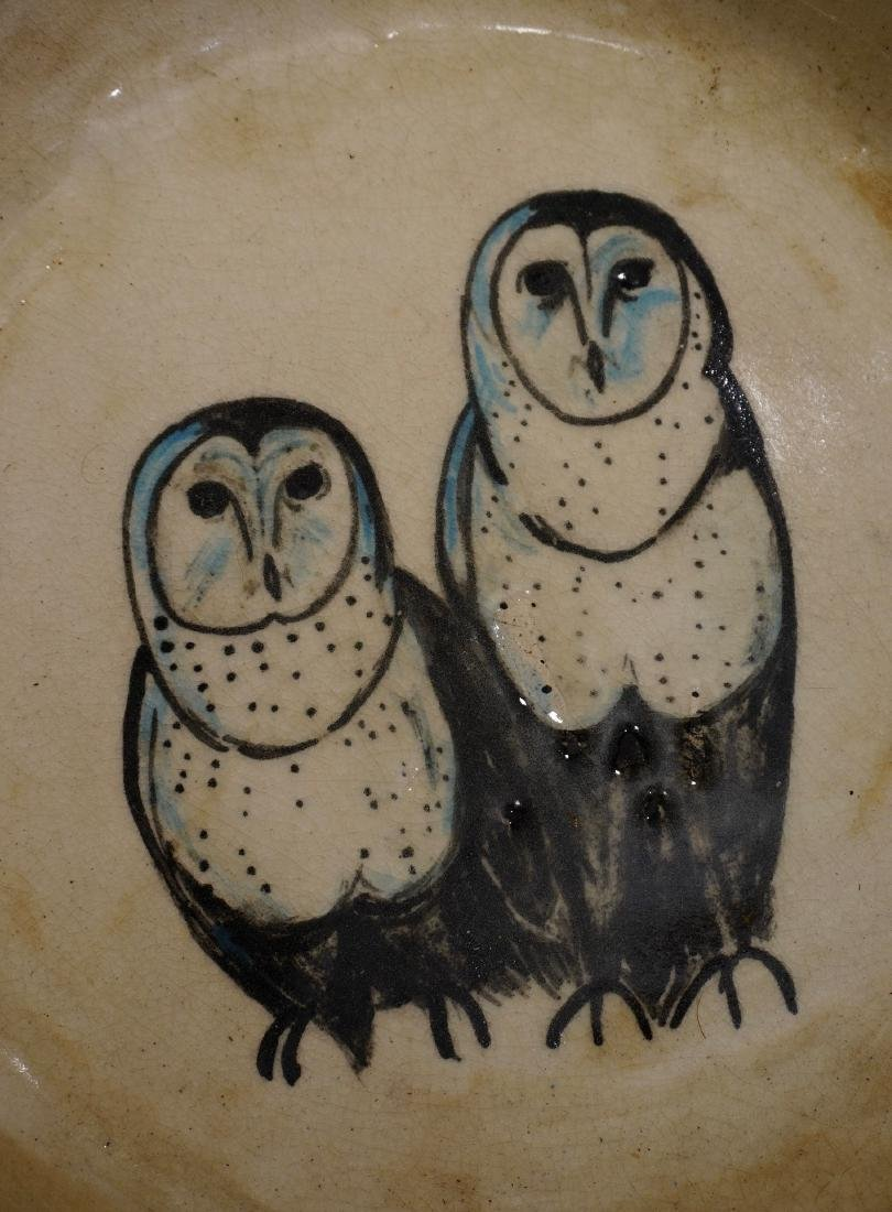 Owl Pottery Bowl Mid Century Modern Studio Ceramic Hand - 2