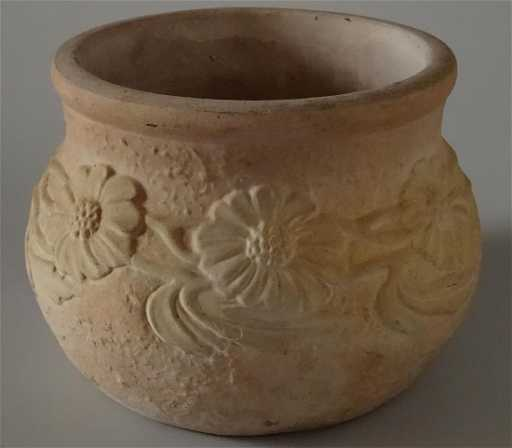 unglazed pottery vintage californian planter cachepot